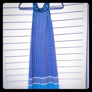 Max Studio Geometric Blue/Teal Razorback Dress